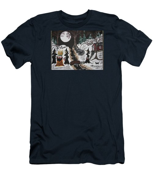 Men's T-Shirt (Slim Fit) featuring the painting Lunch by Jeffrey Koss