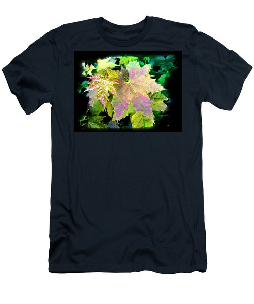 Men's T-Shirt (Slim Fit) featuring the mixed media Lush Spring Foliage by Will Borden