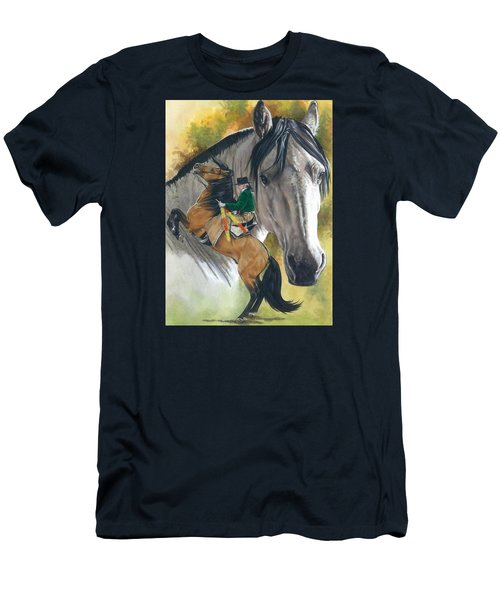Men's T-Shirt (Slim Fit) featuring the painting Lusitano by Barbara Keith