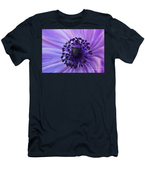 Macro Of Lavender Purple Anemone Men's T-Shirt (Athletic Fit)