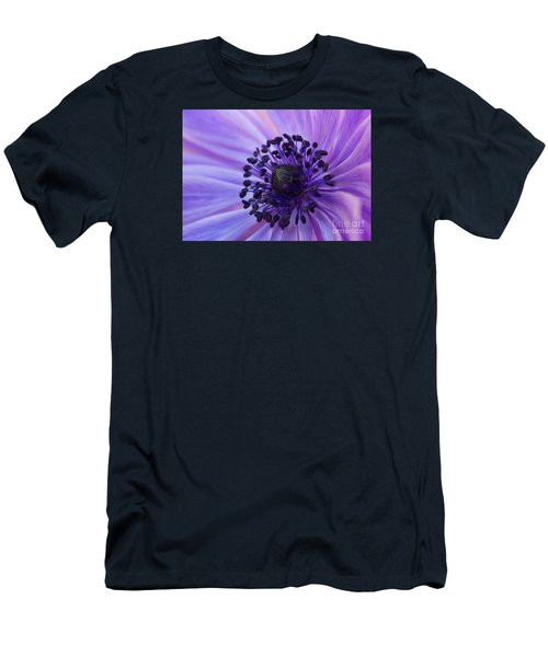 Macro Of Lavender Purple Anemone Men's T-Shirt (Athletic Fit)