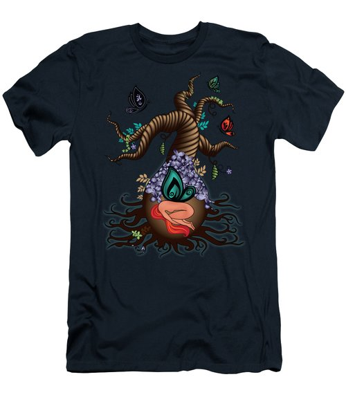 Magic Butterfly Tree Men's T-Shirt (Athletic Fit)