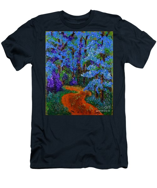 Magical Blue Forest Men's T-Shirt (Athletic Fit)
