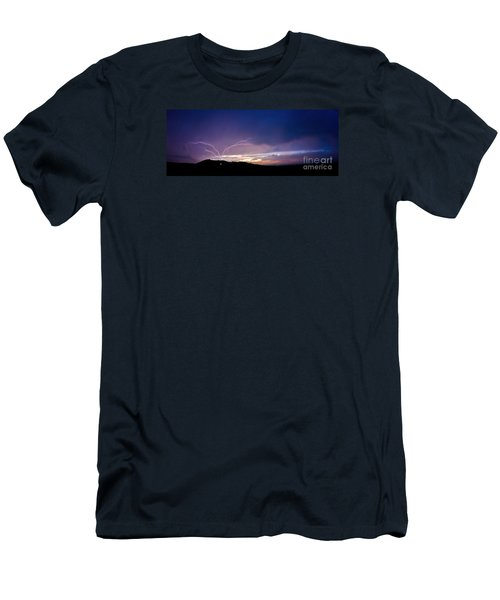 Magnificent Sunset Lightning Men's T-Shirt (Athletic Fit)