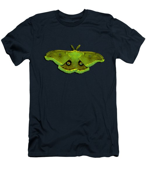 Men's T-Shirt (Slim Fit) featuring the photograph Male Moth Green And Yellow .png by Al Powell Photography USA