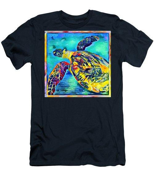 Malia The Turtle Men's T-Shirt (Slim Fit) by Erika Swartzkopf
