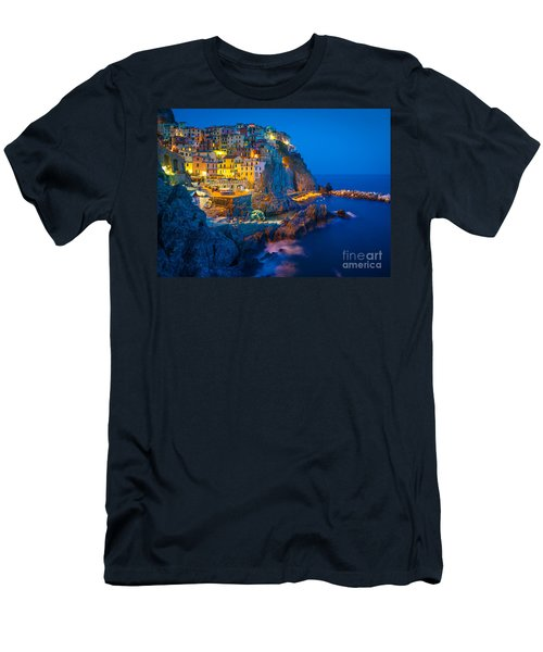 Manarola By Night Men's T-Shirt (Athletic Fit)