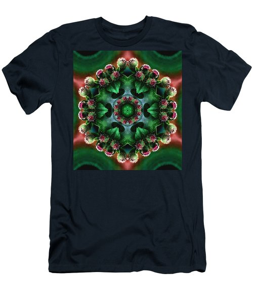 Mandala Bull Thistle Men's T-Shirt (Athletic Fit)