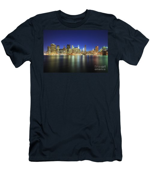 Manhattan Nite Lites Nyc Men's T-Shirt (Athletic Fit)