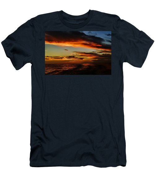 Men's T-Shirt (Athletic Fit) featuring the photograph Marco Sunset No.13 by Mark Myhaver