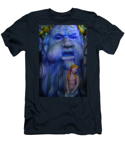 Mardi Gras Mermaid Men's T-Shirt (Athletic Fit)