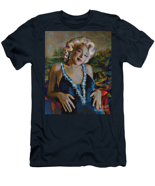Marilyn Monroe 126 Monalisa Men's T-Shirt (Athletic Fit)