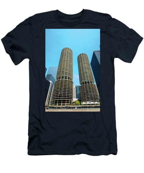 Marina City Chicago Men's T-Shirt (Athletic Fit)