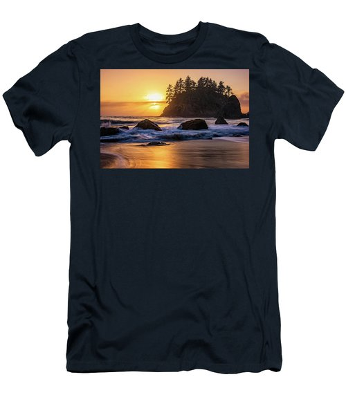 Men's T-Shirt (Athletic Fit) featuring the photograph Marine Layer Sunset At Trinidad, California by John Hight