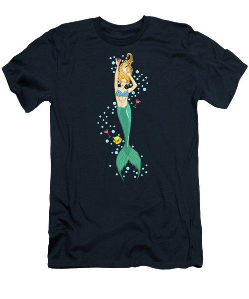 Martini Mermaid Men's T-Shirt (Athletic Fit)