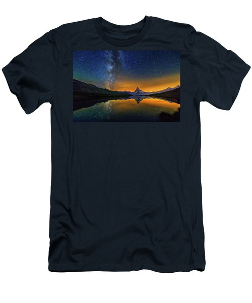 Matterhorn By Night Men's T-Shirt (Athletic Fit)