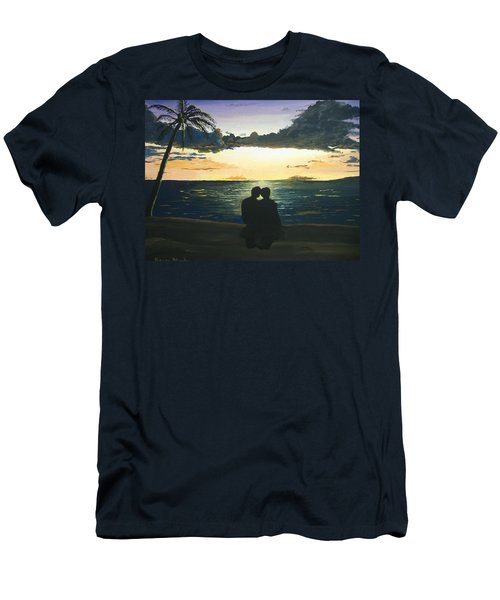 Maui Beach Sunset Men's T-Shirt (Athletic Fit)