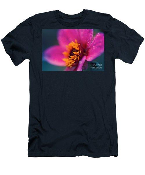 Men's T-Shirt (Slim Fit) featuring the photograph Maui Mystic Dreamer Dahlia Jewels by Sharon Mau