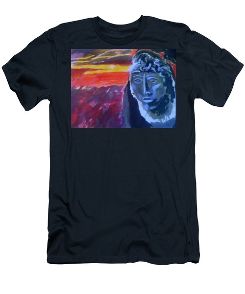 Maya Sunset Men's T-Shirt (Athletic Fit)