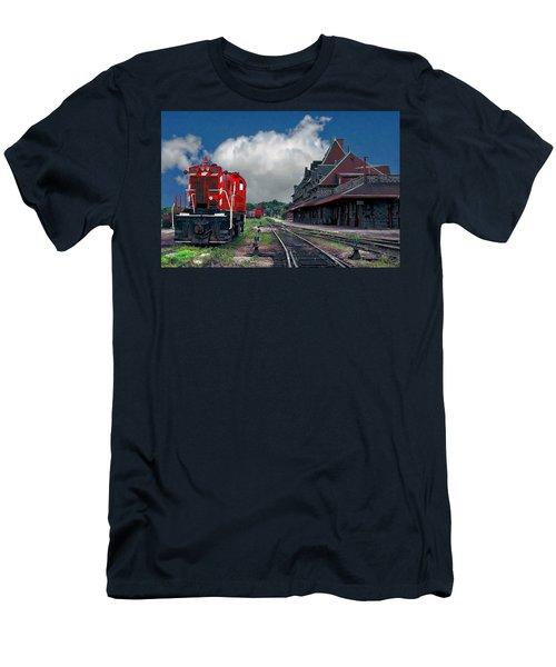Mcadam Train Station Men's T-Shirt (Athletic Fit)