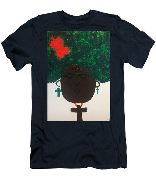 Meditation Queen  Men's T-Shirt (Athletic Fit)