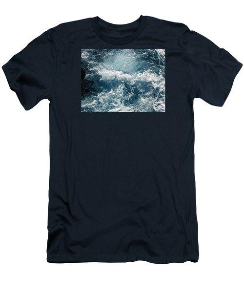 Mediterranean Sea Art 53 Men's T-Shirt (Slim Fit) by Richard Rosenshein
