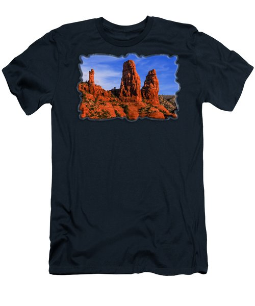 Men's T-Shirt (Athletic Fit) featuring the photograph Megalithic Red Rocks by Mark Myhaver