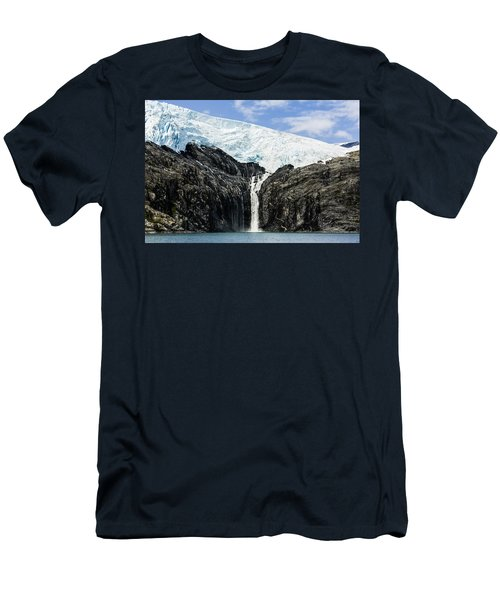 Meltwater From The Northland Glacier Men's T-Shirt (Slim Fit) by Ray Bulson