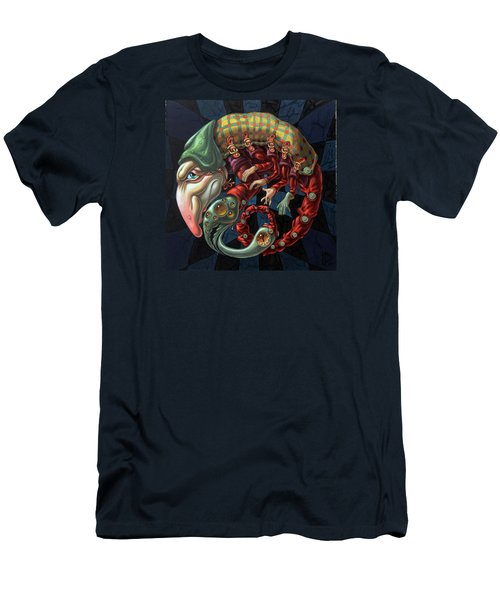 Memento Mori. Red Scorpion Men's T-Shirt (Athletic Fit)