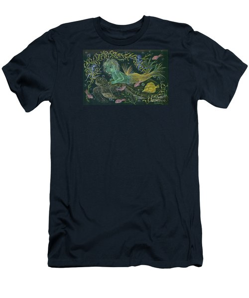 Merbaby Green Men's T-Shirt (Slim Fit) by Dawn Fairies