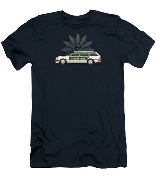 Mercedes Benz W124 300te Wagon German Police Men's T-Shirt (Athletic Fit)