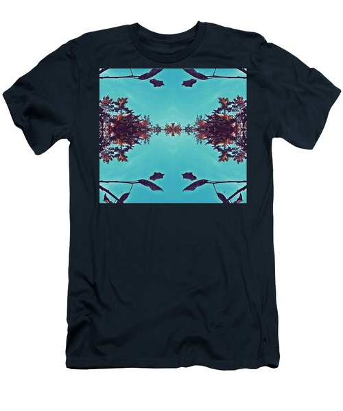 Merging - Turquoise Men's T-Shirt (Athletic Fit)