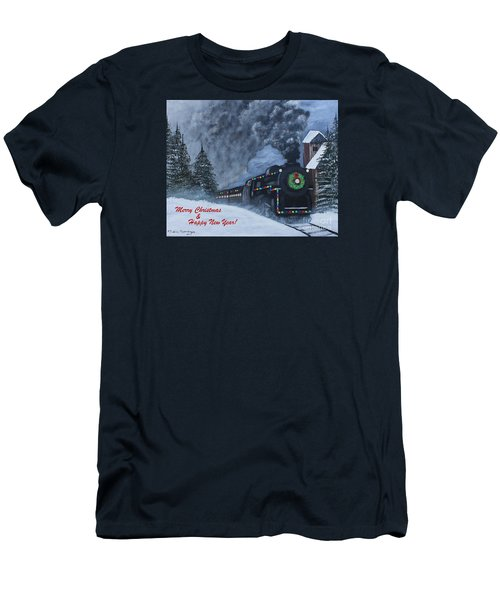 Merry Christmas Train Men's T-Shirt (Athletic Fit)