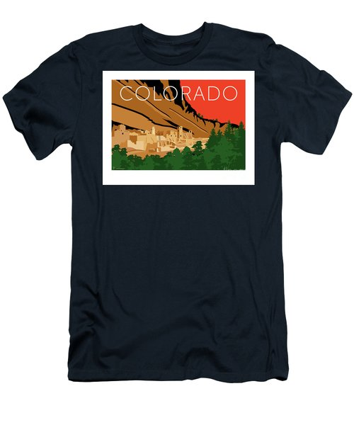 Men's T-Shirt (Athletic Fit) featuring the digital art Mesa Verde Orange by Sam Brennan