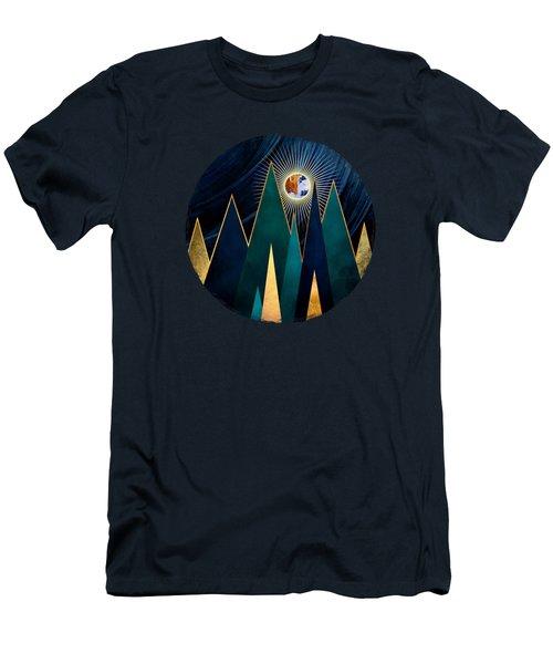 Metallic Peaks Men's T-Shirt (Athletic Fit)