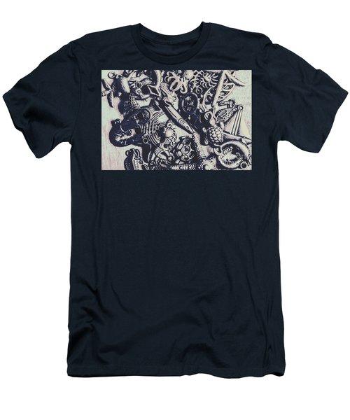 Metallic Seas Men's T-Shirt (Athletic Fit)