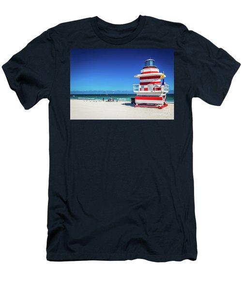 Miami Beach Lifeguard 4463 Men's T-Shirt (Athletic Fit)