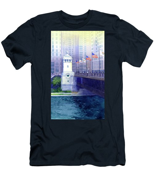Michigan Avenue Bridge Men's T-Shirt (Athletic Fit)