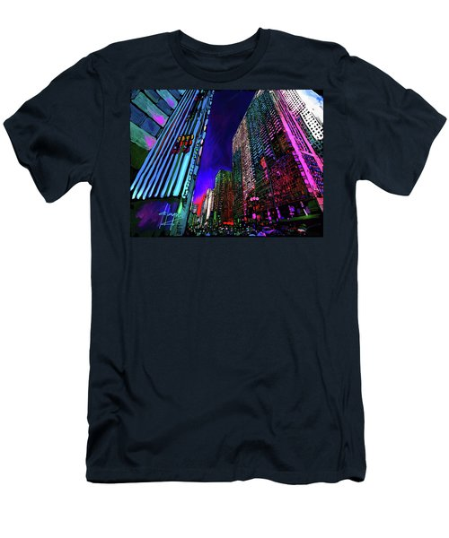 Michigan Avenue, Chicago Men's T-Shirt (Athletic Fit)