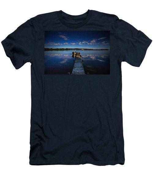 Midnight At Shady Shore On Moose Lake Minnesota Men's T-Shirt (Athletic Fit)
