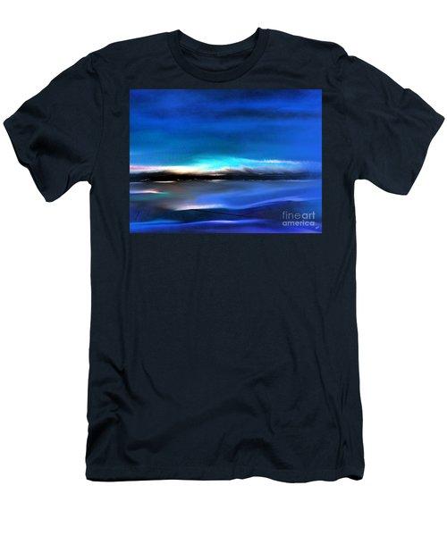Midnight Blue Men's T-Shirt (Slim Fit) by Yul Olaivar