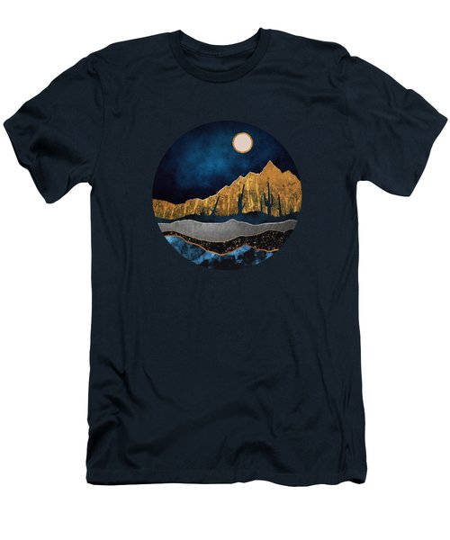 Midnight Desert Moon Men's T-Shirt (Athletic Fit)