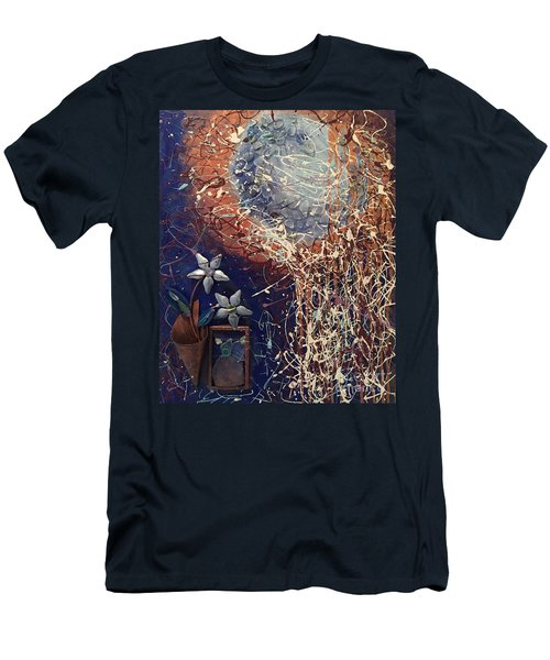 Midnight Flowers Men's T-Shirt (Athletic Fit)