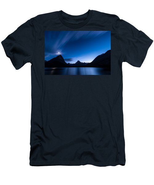 Midnight Over Glacier National Park Men's T-Shirt (Athletic Fit)