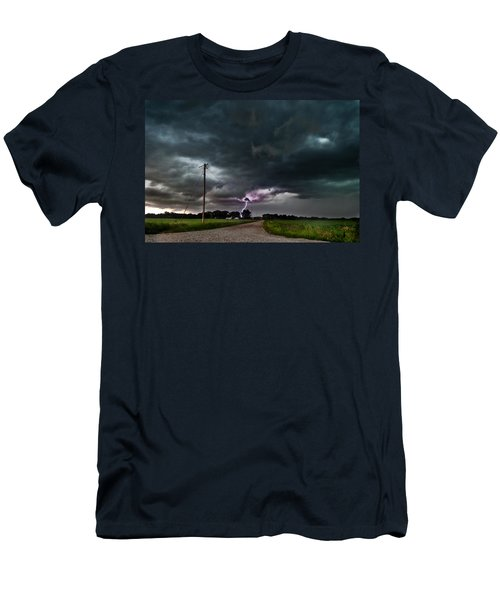 Mikey's Lightning  Men's T-Shirt (Athletic Fit)