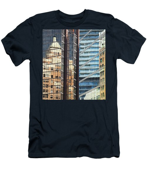 Men's T-Shirt (Slim Fit) featuring the photograph Miksang 10 Reflect by Theresa Tahara
