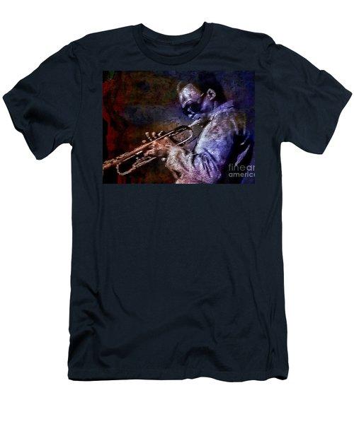 Miles Davis Jazz Legend 1969 Men's T-Shirt (Slim Fit) by Ian Gledhill
