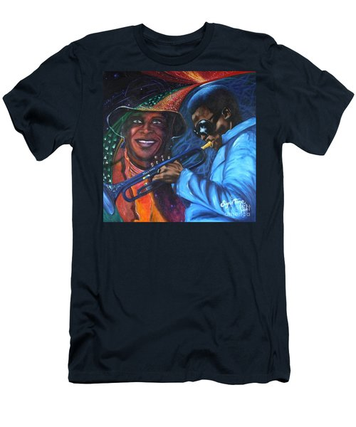 Blaa Kattproduksjoner            Miles Davis - Smiling Men's T-Shirt (Athletic Fit)