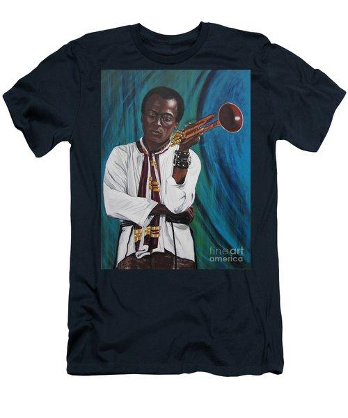Blaa Kattproduksjoner     Miles-in A Really Cool White Shirt Men's T-Shirt (Athletic Fit)