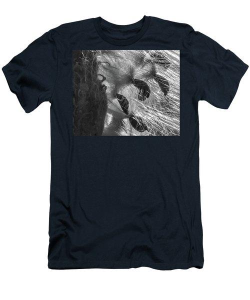 Milkweed Sunburst In Black And White Men's T-Shirt (Athletic Fit)